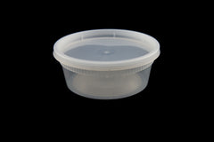 Newspring/Pactiv O'Smile 8 oz. Soup Container Combo w/Lid