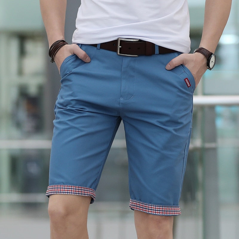 Men Shorts Quality Cotton Short Men Printing Cosual Formal Shorts