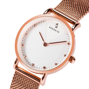 BOBO BIRD Women Watches Luxury stainless steel