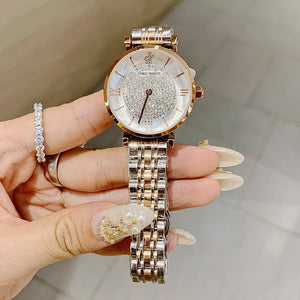 Luxury Women Watches Diamond Silver Crystal Watch Ladies Top Brand Lady Casual Watch