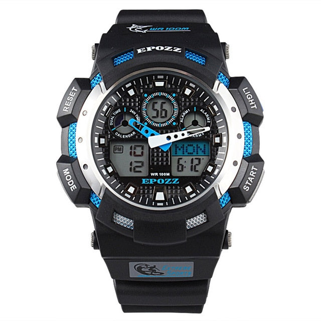 EPOZZ NEW Men Fashion Sport Casual Watches Men's Quartz Date Clock Man Waterproof 100m dive