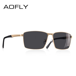 AOFLY Vintage Retro Brand Designer Men Polarized Sunglasses