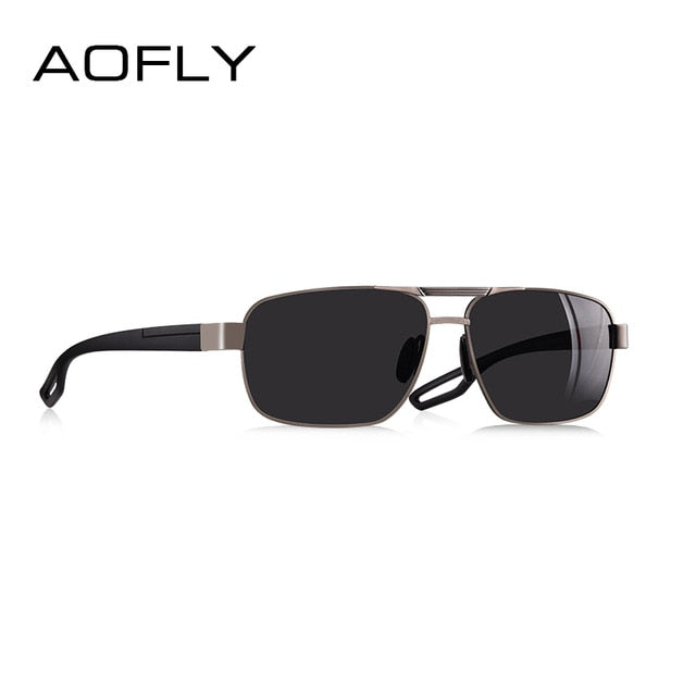 AOFLY DESIGN Men Polarized Sunglasses Metal Men's Sun Glasses