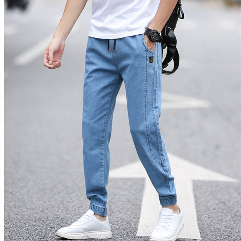BINHIIRO Summer Men's Jeans Solid color Loose Classic Casual Jeans