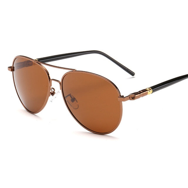 Fashion Cool Pilot Style Gradient Sunglasses Men Driving Vintage Brand