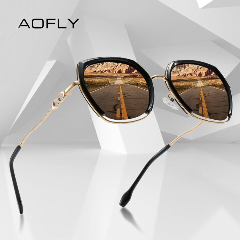 AOFLY Square Polarized Sunglasses Women Luxury BRAND DESIGN Fashion