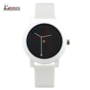 Enmex creative design lady wristwatch branch concept brief stainless steel