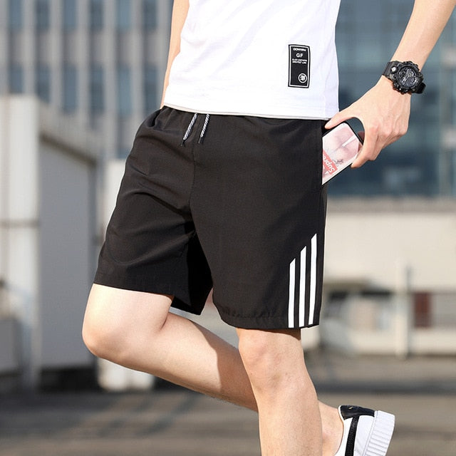 Casual Shorts Men's Summer Ice-silk Sports Leisure Five Tides Loose Pants Slim Fast-drying Beach Pants