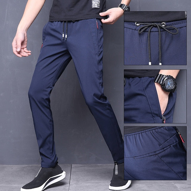 MRMT Brand Mens Fast Dry Trousers Casual Straight Men's Pants Thin