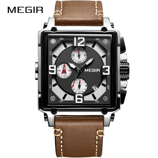 Top Brand Luxury MEGIR Creative Men Watch Chronograph Quartz Watches