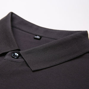 Cotton POLO shirt with short sleeves men's lapels