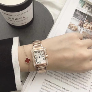 women's watches Brand ladies square watch Full Steep Strap