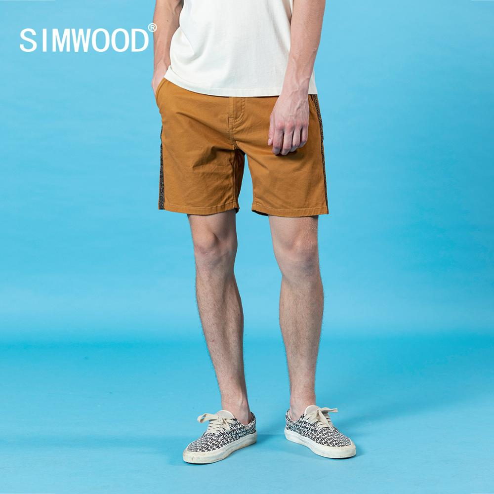 SIMWOOD casual knee length short plus size brand clothing
