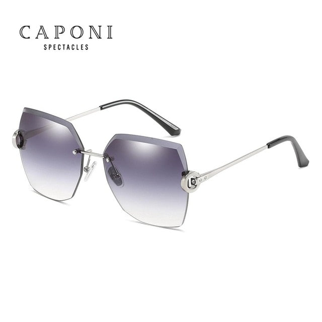 CAPONI Luxury Design Sunglasses Women Frameless Oversize 2020 Sun Glasses