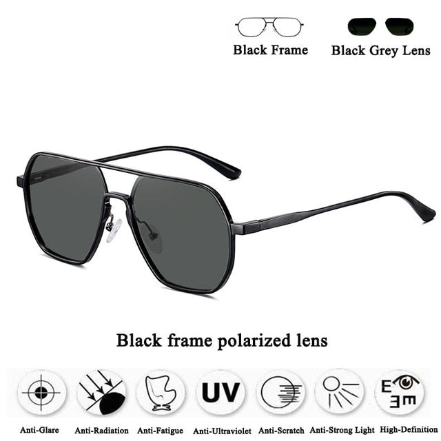 Sunglasses Men Polarized UV400 High Quality Mens Sun Glasses Vintage Aluminum Magnesium