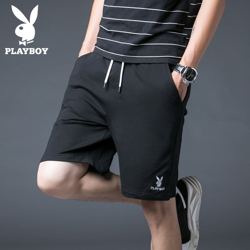 Brand Playboy Men's Fashion Slim Breathable Stretch Cotton Shorts