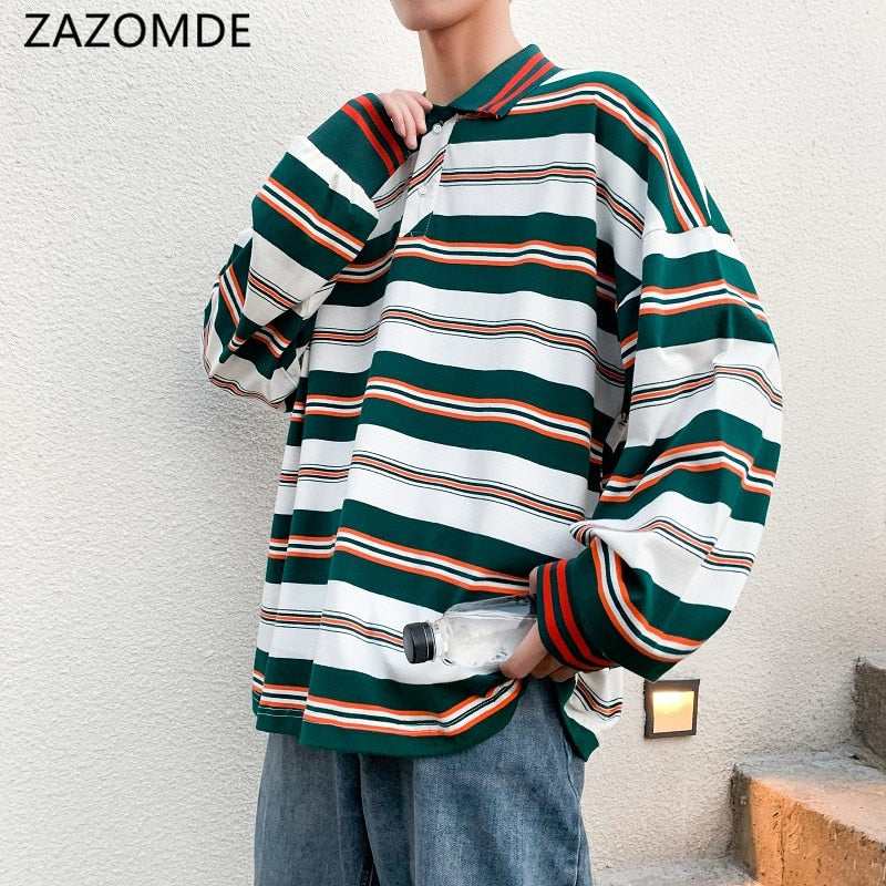 ZAZOMDE Men Polo Shirt Men's Casual Cotton Male Oversized Top Tees