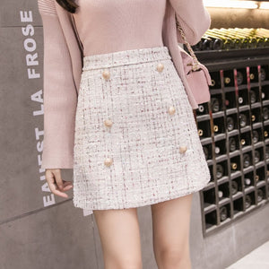 Tweed Half-length Skirt for Women