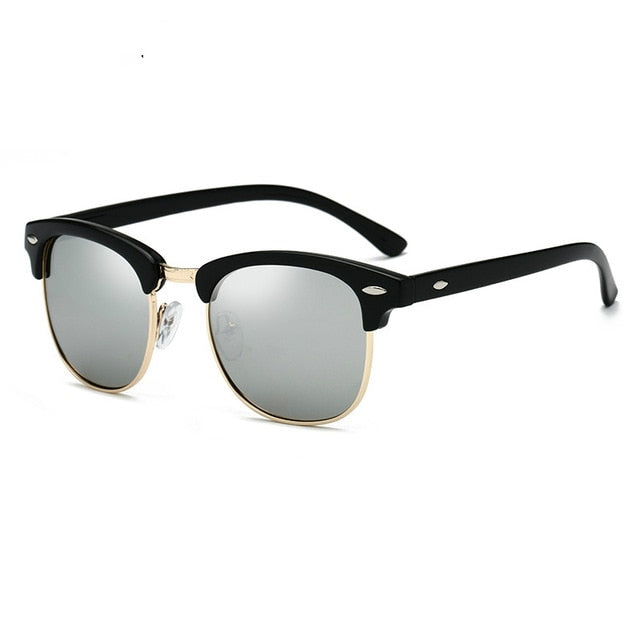 Polarized Sunglasses Men Women RB3016 Brand Design Eye Sun Glasses Women Semi Rimless Classic Men Sunglasses