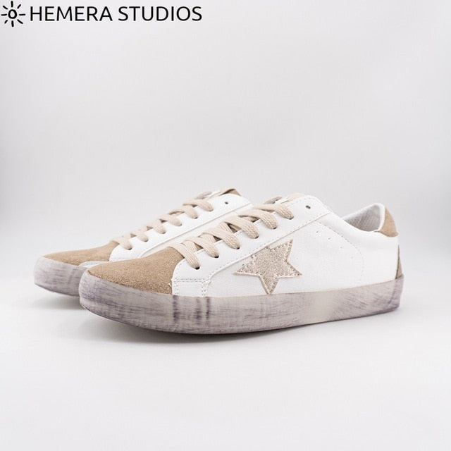 Hemera Studios women's worn shoes 2020 lace-up Casual sneakers multicolor