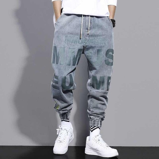 Jeans Men's Loose Stylish Motorcycle Style Korean Harlan All-match Harajuku Style Ins Beam