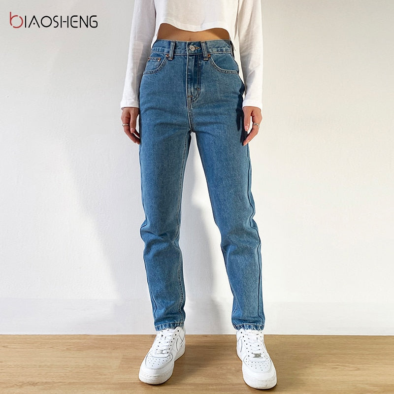 Women's Pants Mom Jeans Woman Undefined Baggy Oversize Loose Wide Denim