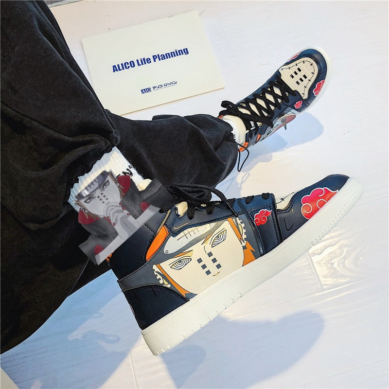 Naruto Canvas Akatsuki Shoes Pain Kakashi Sneakers Anime