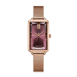 Stainless Steel Julius Lady Women's Watch Japan Quartz Elegant Fashion Hours Clock Dress Bracelet