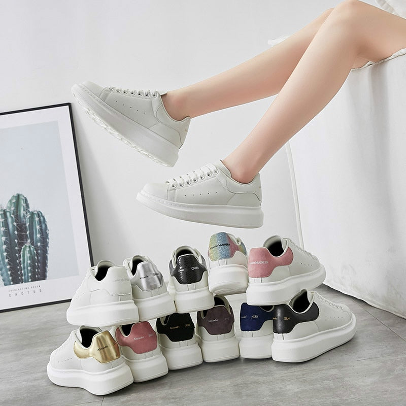 Women Platform Chunky Shoes Sneakers Thick Heel Sneaker Creepers Classic Shoes