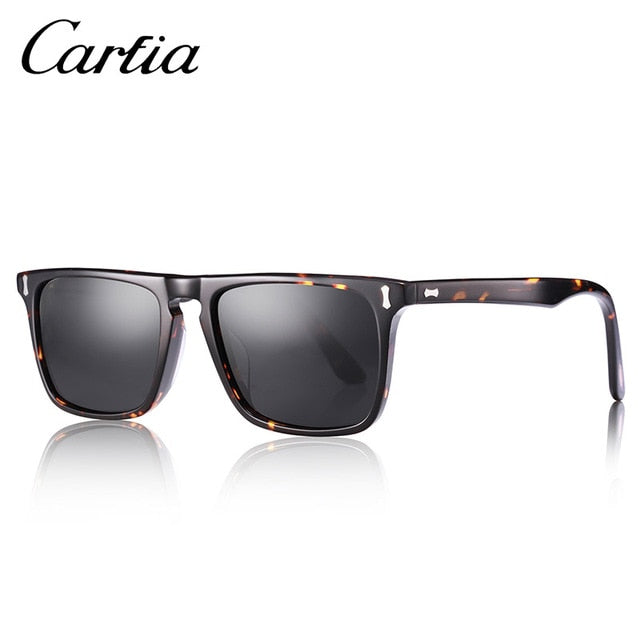 Carfia Men Classic Square Sun Glasses Fashion Polarized Sunglasses For Men Women