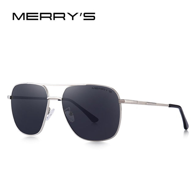 MERRYS DESIGN Men Classic Sunglasses Aviation Frame HD Polarized Shades