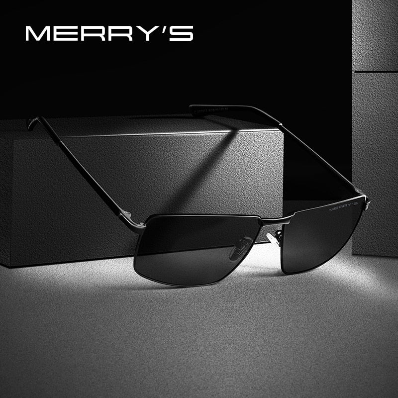 MERRYS DESIGN Men Classic Rectangle Sunglasses Aviation Frame HD Polarized