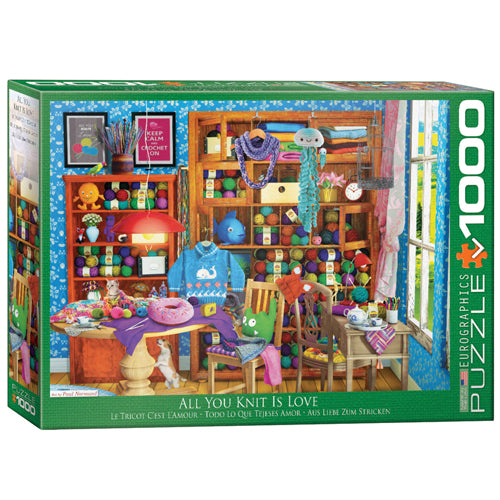 Eurographics All You Knit is Love 1000 piece puzzle