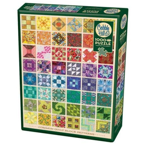 Cobble Hill Common Quilt Blocks 1000 Piece Puzzle