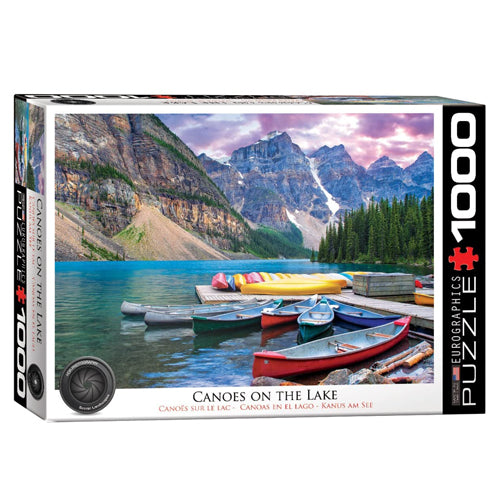 Eurographics Canoes on the Lake 1000 Piece Puzzle