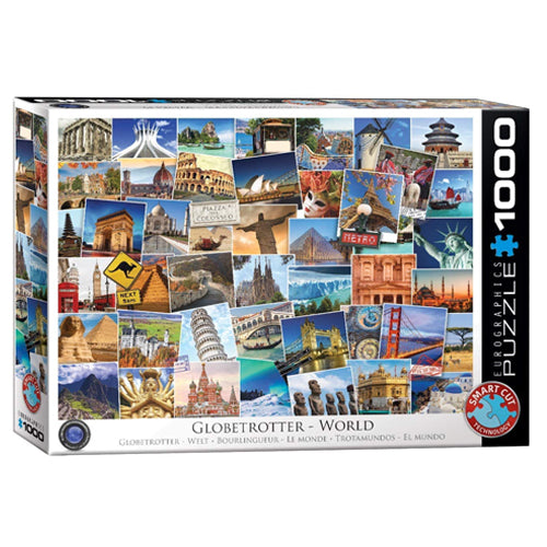 Eurographics Globe Trotter World 1000 Piece Puzzle