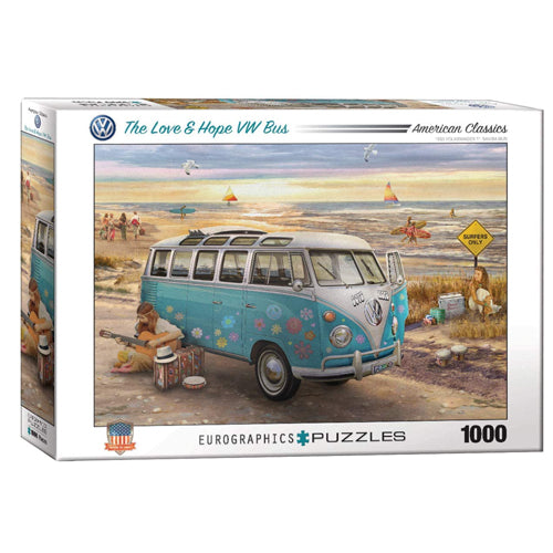 Eurographics Love & Hope VW Bus 1000 Piece Puzzle
