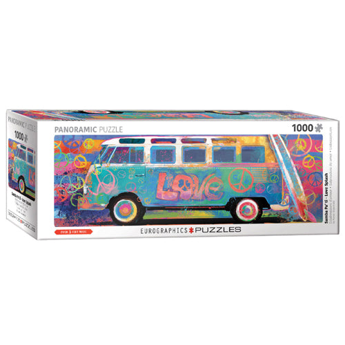 Eurographics VW Love Splash 1000 Piece Panoramic Puzzle