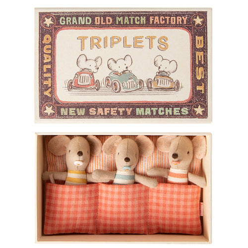Maileg Triplets Mice in Matchbox