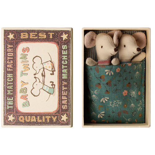 Maileg Baby Mice - Twins in Matchbox