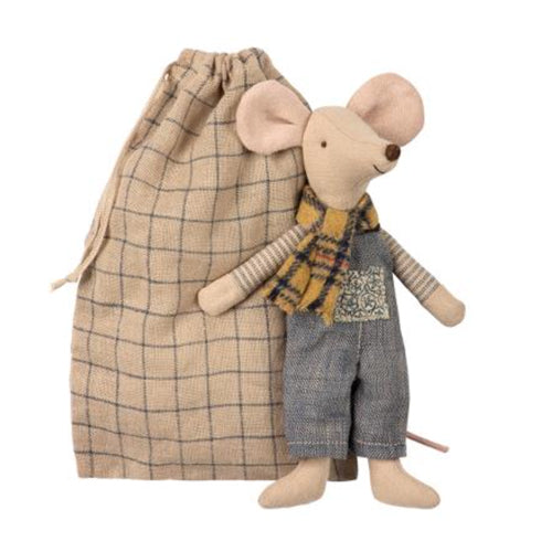 Maileg Father Winter Mouse in Bag