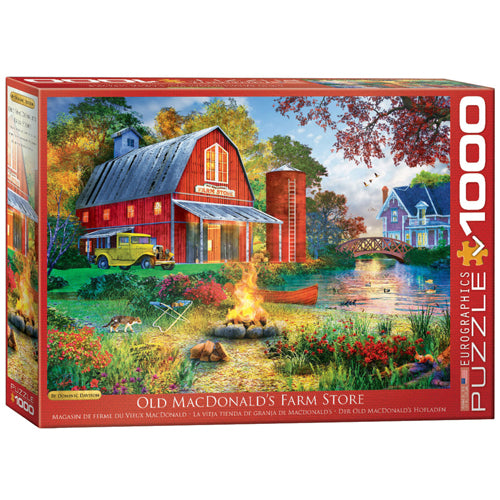 Eurographics Campfire by the Barn 1000 Piece Puzzle