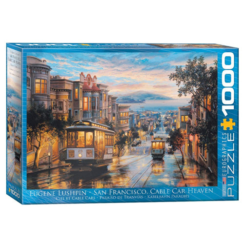 Eurographics San Francisco Cable Car Heaven 1000 Piece Puzzle
