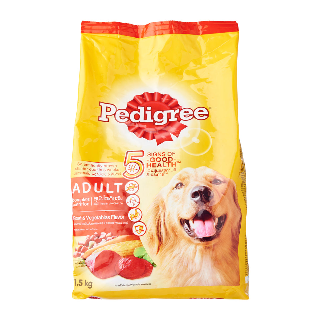 Pedigree Adult Beef Dry Dog Food (Assorted Sizes)