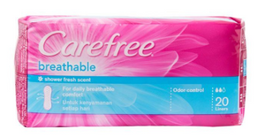 Carefree Panty Liner Breathable Shower Scented (Assorted Sizes)