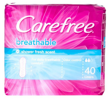 Load image into Gallery viewer, Carefree Panty Liner Breathable Shower Scented (Assorted Sizes)