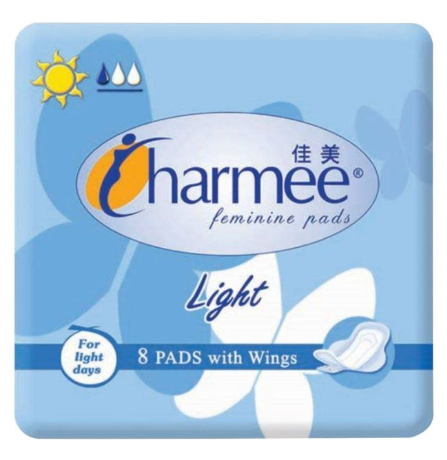 Charmee Sanitary Napkin Light with Wings 8pcs