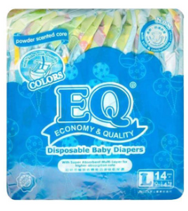 EQ Colors Baby Diaper Budget Pack (Assorted Sizes & Pieces)