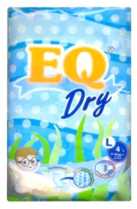 EQ Dry Baby Diapers Mini Pack (Assorted Sizes & Pieces)