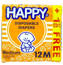 Load image into Gallery viewer, Happy Disposable Diapers 12pcs (Assorted Sizes)